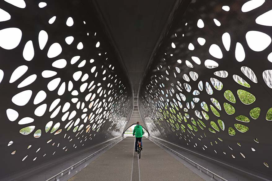 Antwerp Park Bridge is a must if exploring the city by bike