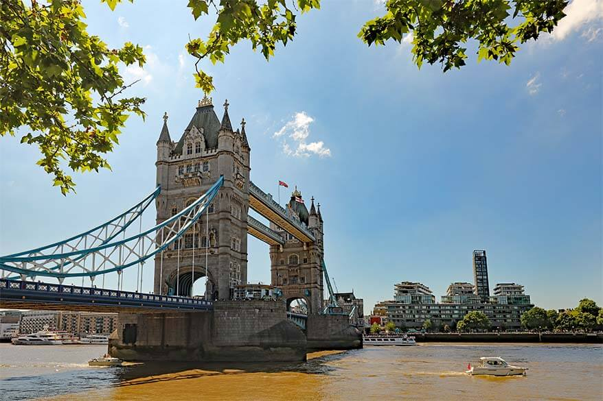 Tower Bridge is one of the landmarks you have to see if visiting London with kids