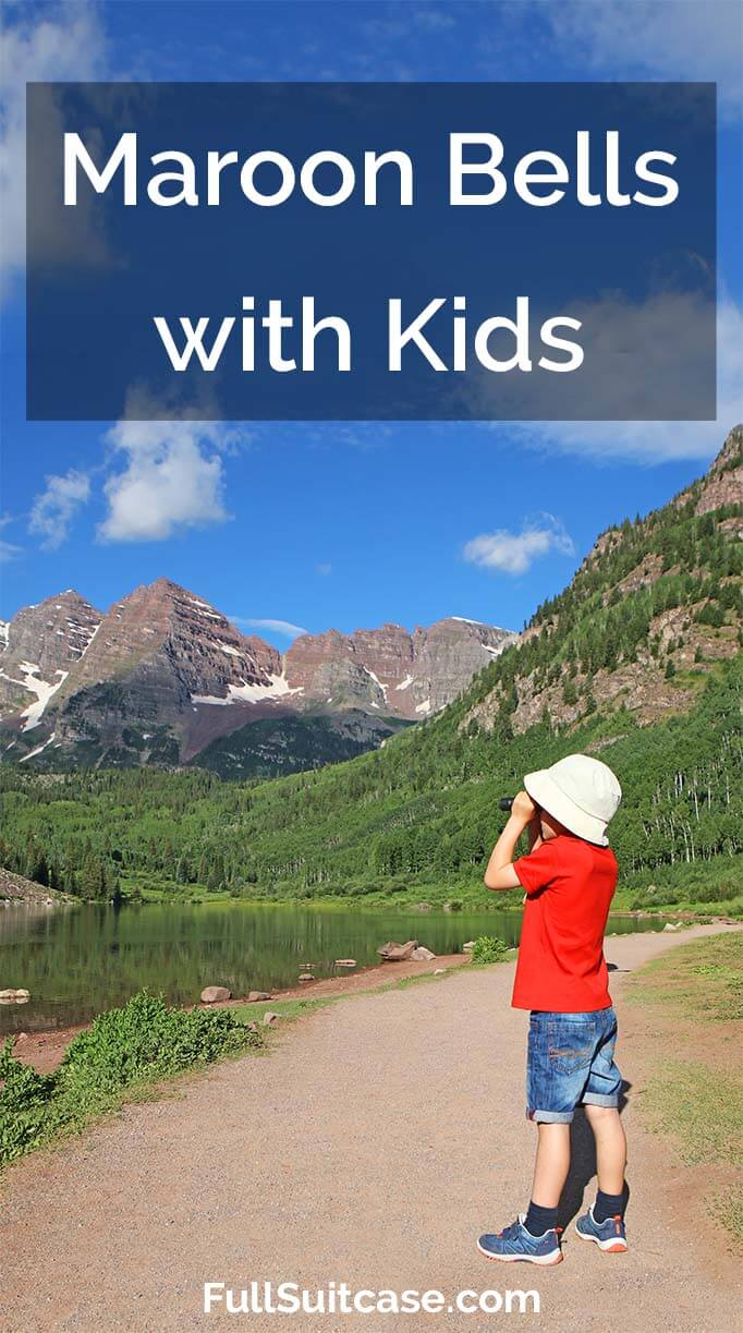 Visit Maroon Bells and go hiking to Crater Lake with kids. The best day trip from Aspen, Colorado for the whole family!