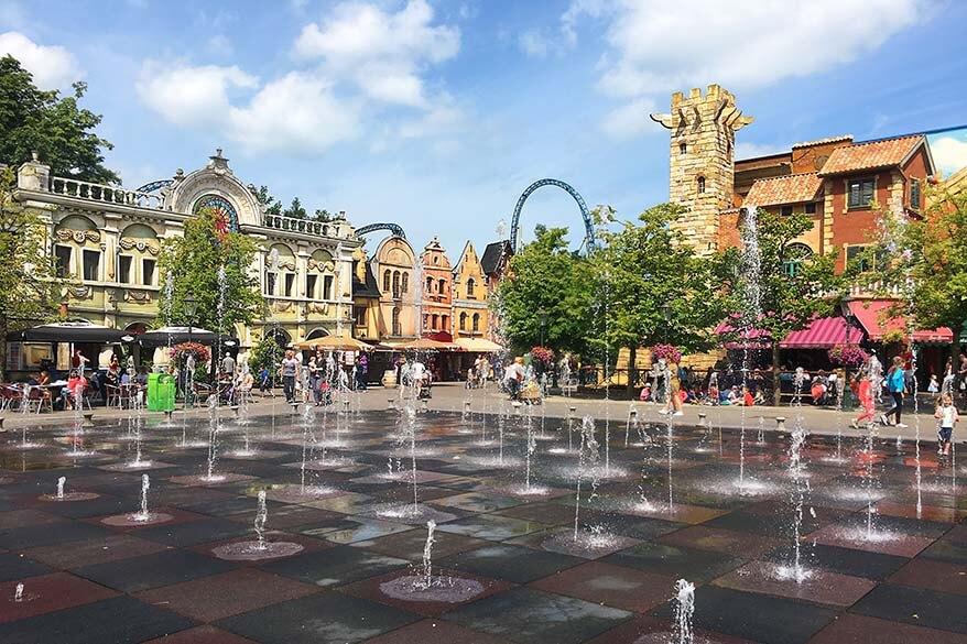 Dancing fountains at Plopsaland De Panne