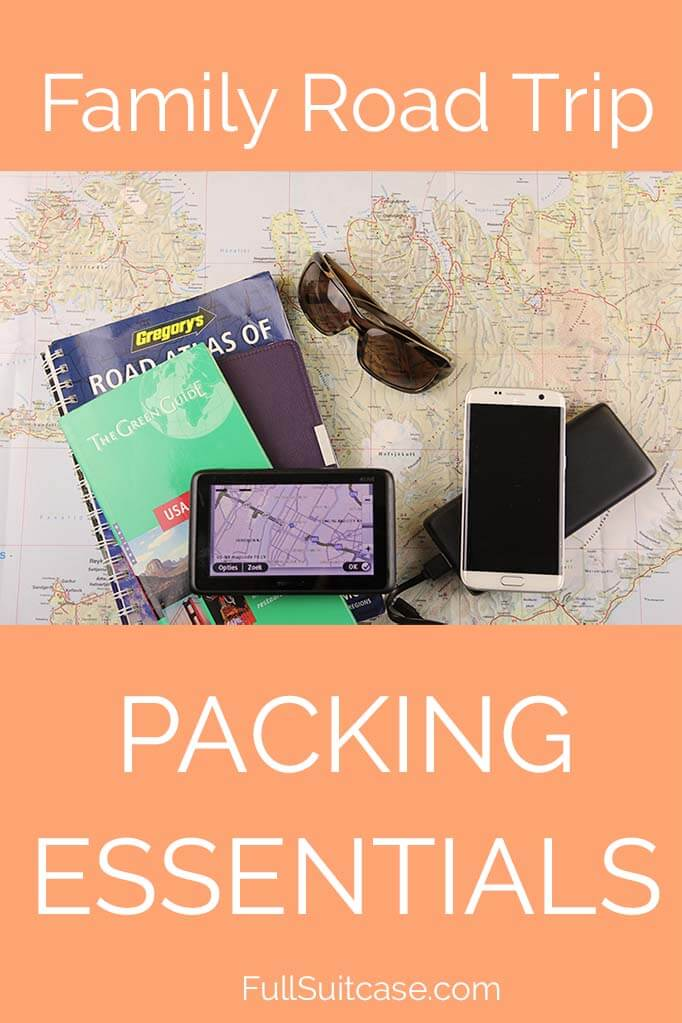 Family road trip packing essentials. Find out not only what to pack for long car rides, but also what to leave at home...