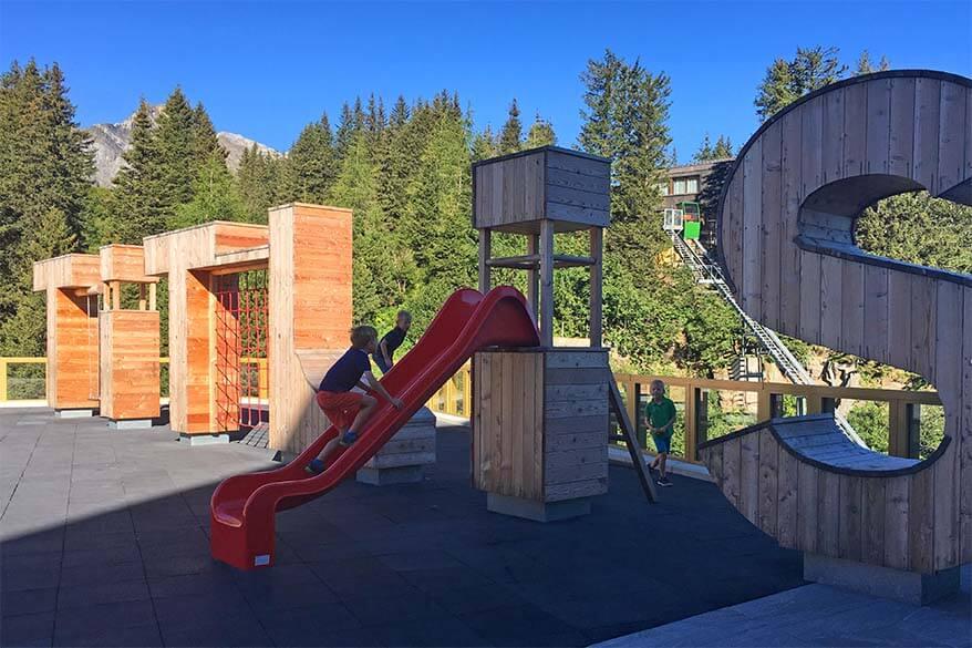 Titlis playground at Alpine Lodge Trubsee in summer - Engelberg, Switzerland
