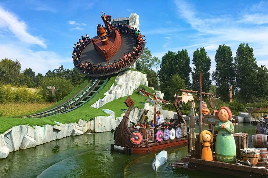 Vicky the Viking zone at Plopsaland De Panne family amusement park in Belgium