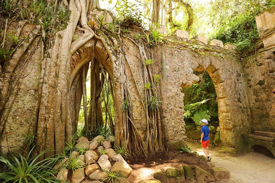 Exploring the gardens of Monserrate Palace in Sintra Portugal