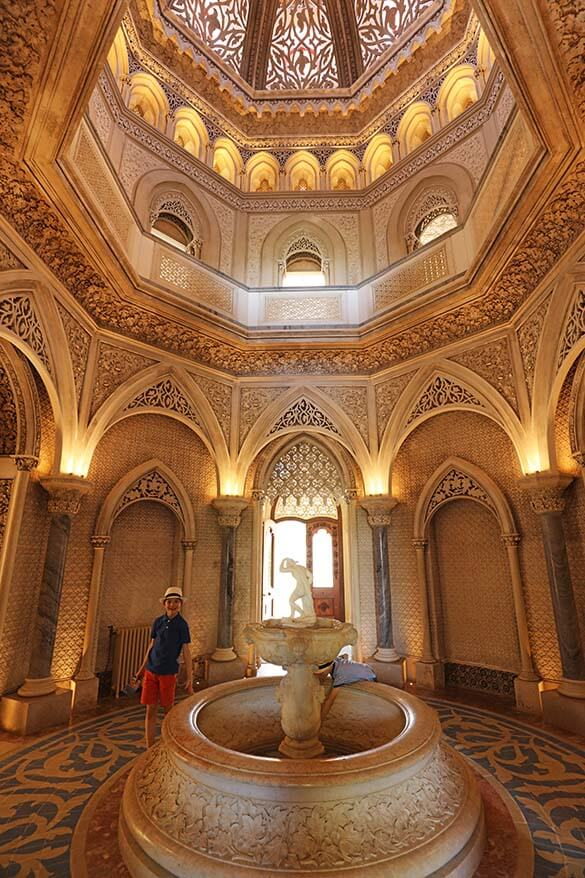Inside the Monserrate Palace in Sintra Portugal