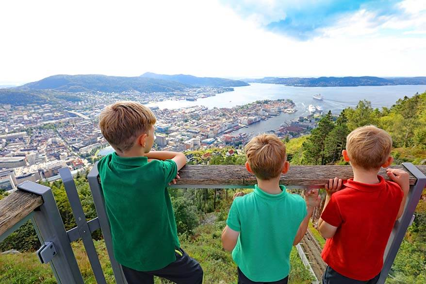 View over Bergen from Floyen mountain - Norway
