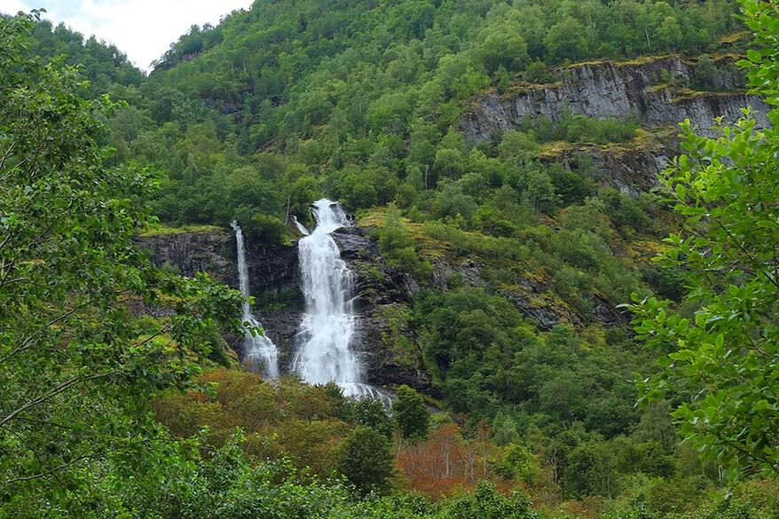 Brekkkefossen waterfall in Flam