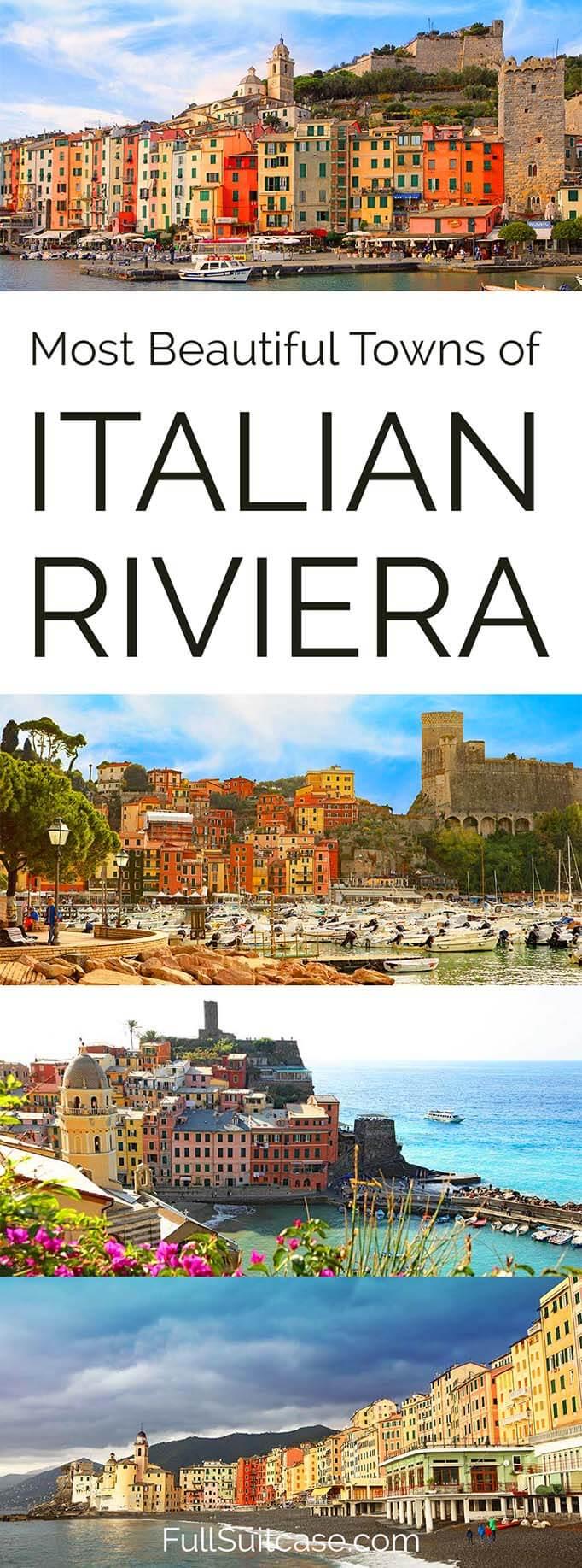 Best towns of Italian Riviera #Italy #Liguria