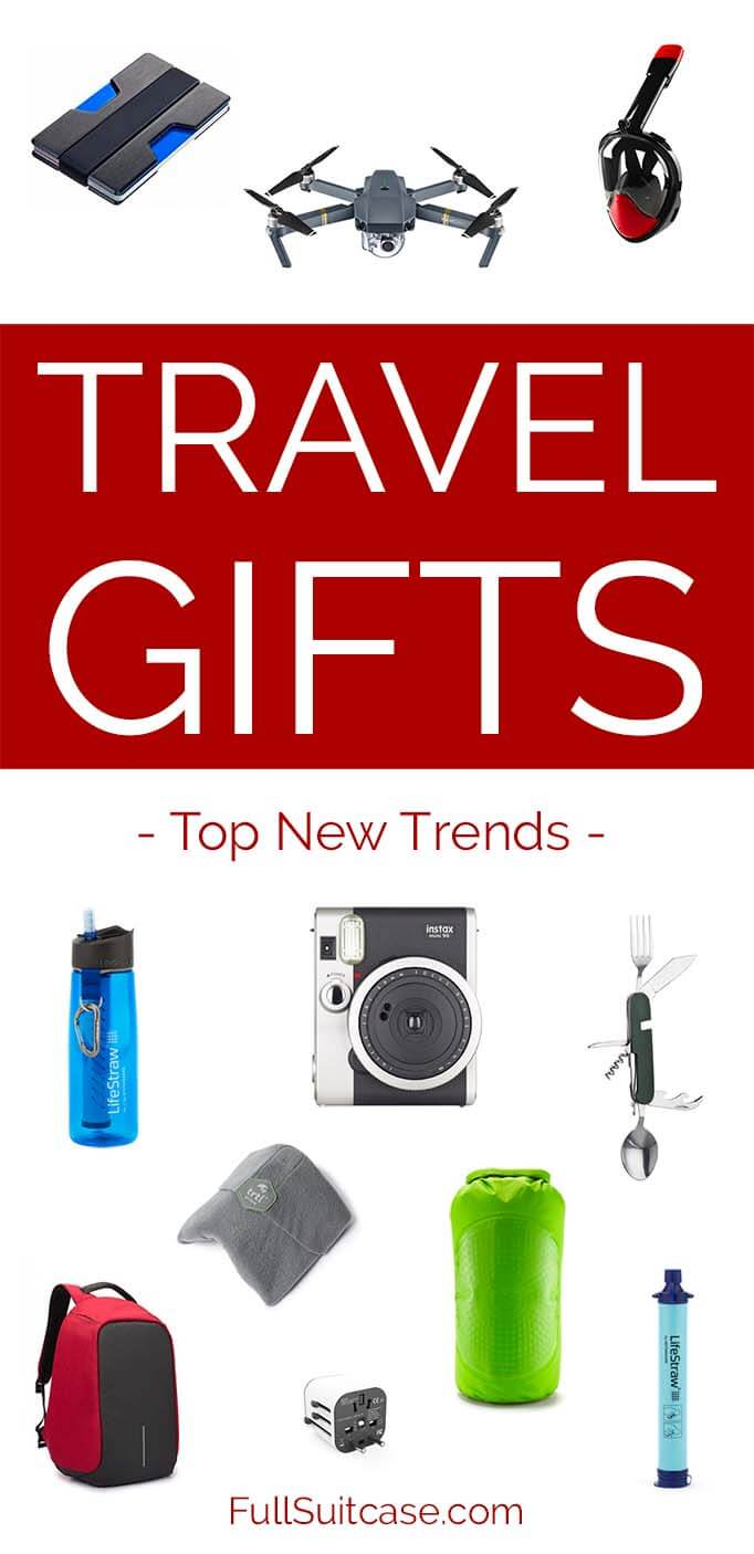 Top ideas for travel gifts for Christmas, birthdays, and other occasions - new trends for 2018 #gifts #holiday #ideas #holidaygifts