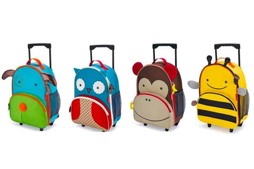 skip hop rolling luggage is a great carry-on suitcase for toddlers