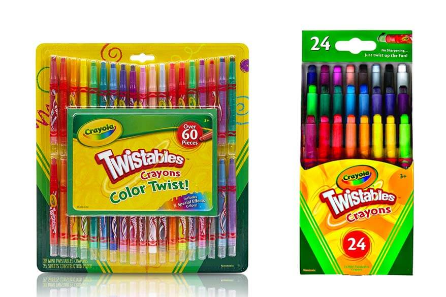 twistable crayons are the best for traveling