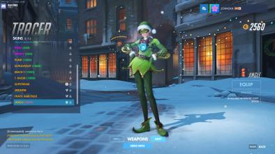 Overwatch Mei Christmas outfit