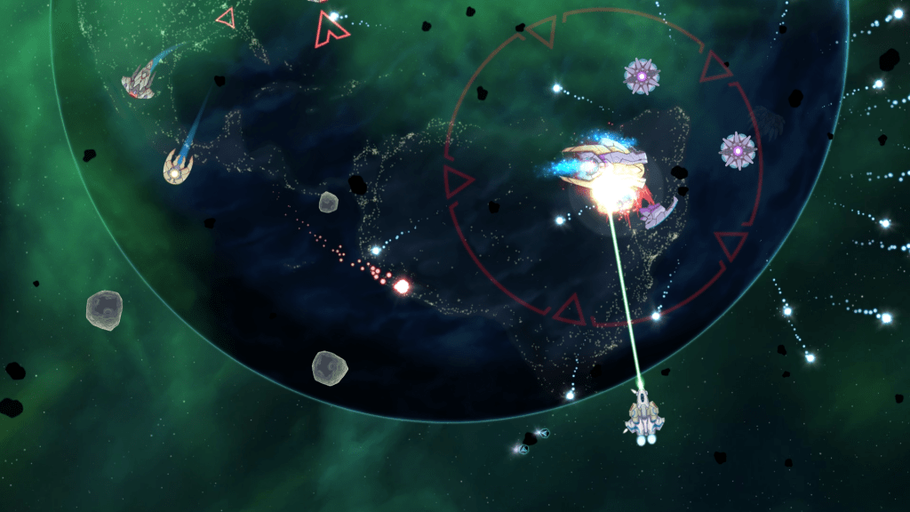 Xenoraid gameplay showing a space battle
