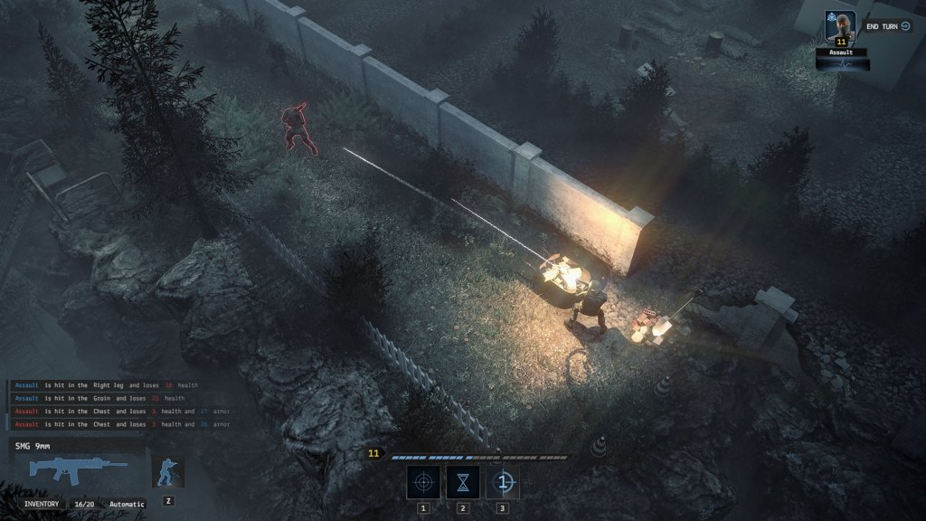 Iron Sight gameplay showing a soldier firing at an enemy
