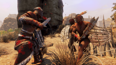 Funcom's Conan Exiles players battling