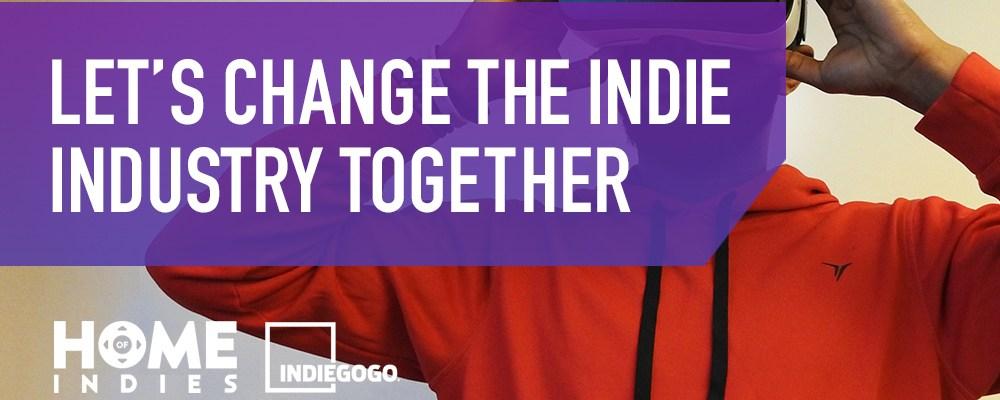 Home of Indies Indiegogo logo
