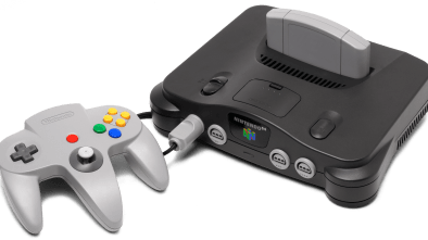 N64 Console with blank cartridge and controller