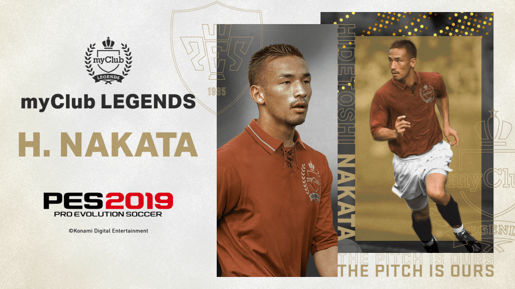 Nakata in PES 2019 as a legend in myClub