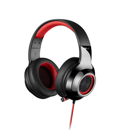 Edifier V4 Headset in black and red