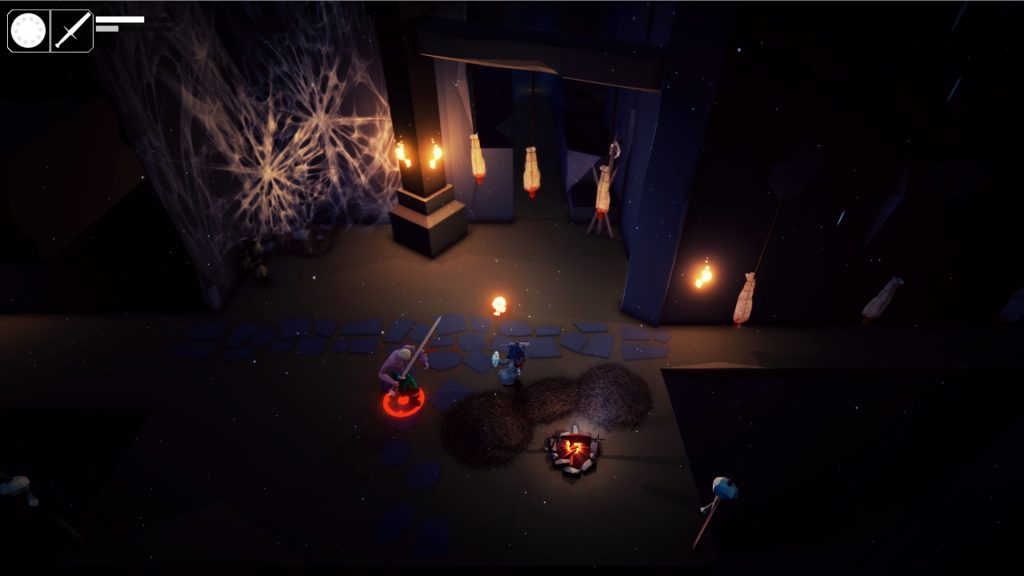 Fall of Light Darkest Edition gameplay showing a battle between Nyx and a knight