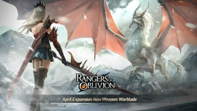 Rangers of Oblivion April update, introducing the new weapon, Warblade