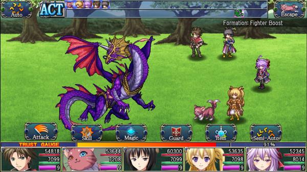 Asdivine Hearts battle geameplay