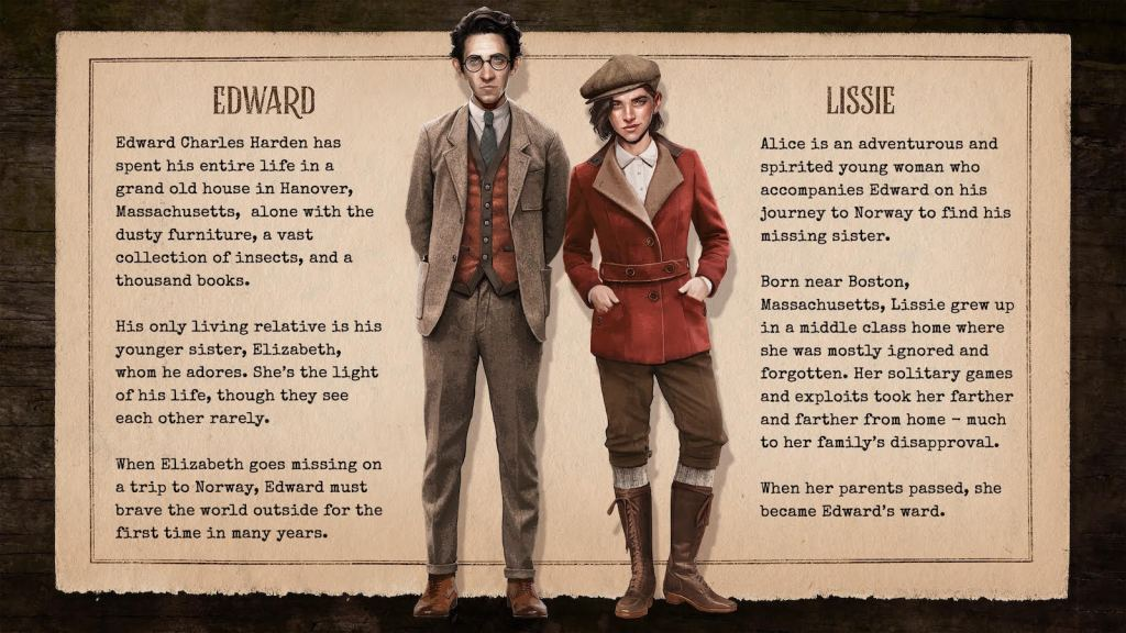 Draugen Character Bio for Edward and Lizzie