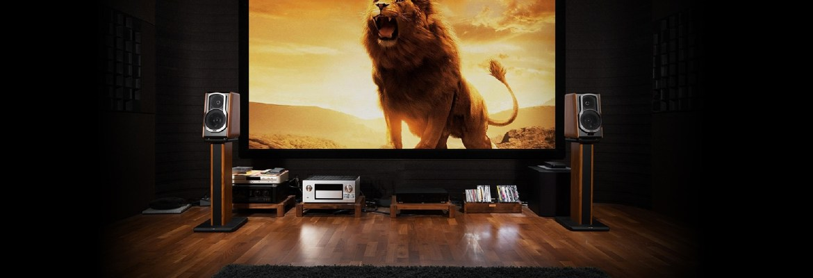 S200 Pro header image set up in front of a screen showing a scene from the lion king