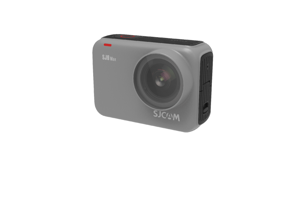 One of the new cameras to the SJ9 Series, the SJ9 Max, unboxed with a grey outer shell.