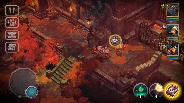 Battle Chasers: Nightwar gameplay footage exploring ruins