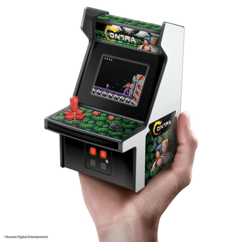 Contra Micro Player in the palm of someone's hand