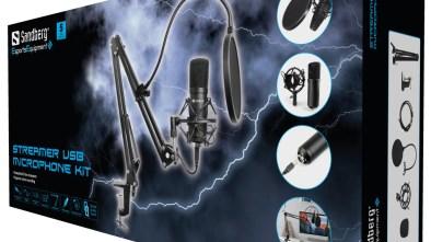 Sandberg Streamer USB Microphone Kit boxed