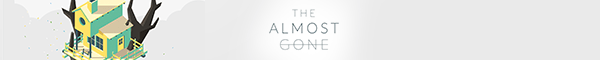The Almost Gone logo banner