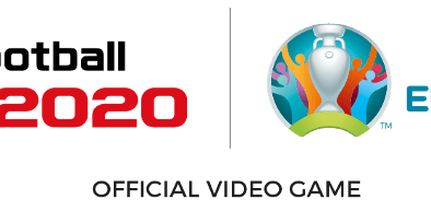 eFootball PES 2020 and UEFA partnership logos