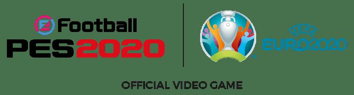 eFootball PES 2020 and UEFA partnership logos