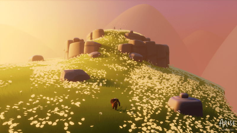 Arise: A Simple Story Screenshot of Flower-filled Field