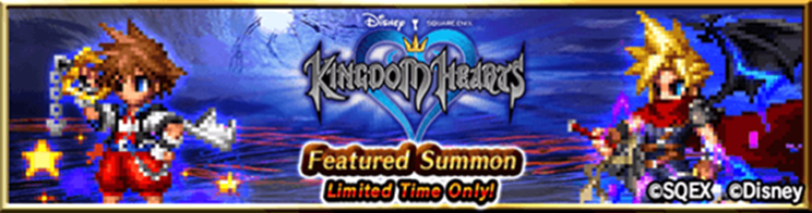 Kingdom Hearts Featured Summon for corss over event with Final Fantasy