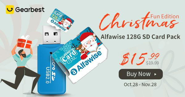 Alfawise Christmas SD Card makes 2nd place on the Gearbest Best Seller List