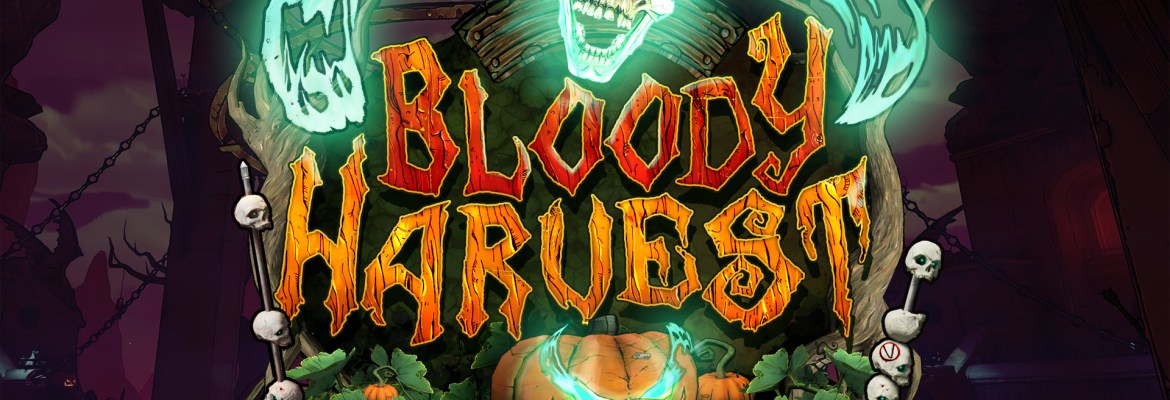 Bloody Harvest logo and key art