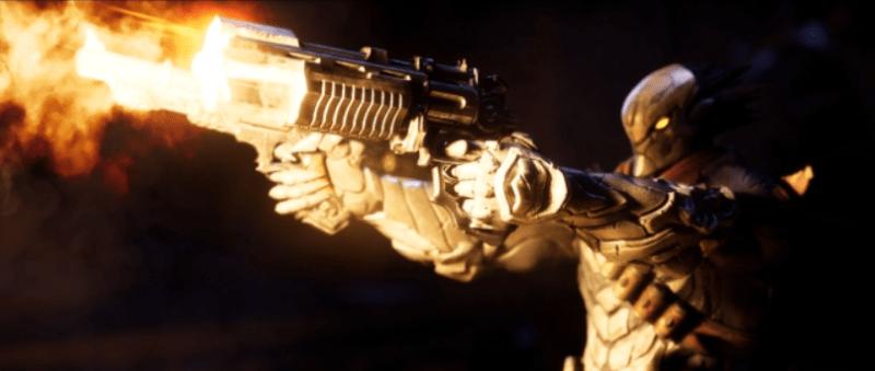 Darksiders Genesis character Strife firing two pistols