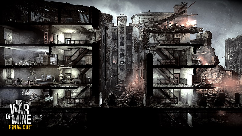 This War of Mine: Final Cut gameplay screenshot of building