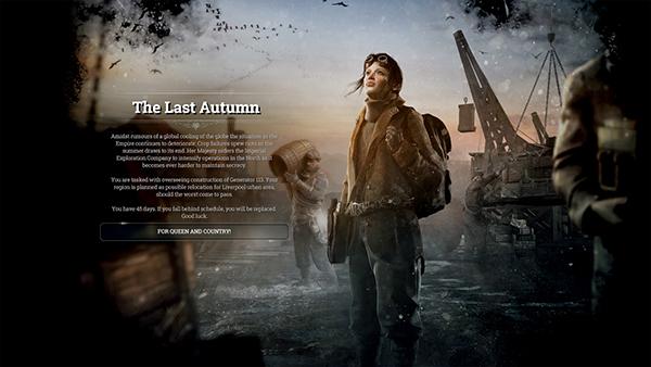 Frostpunk The Last Autumn DLC artwork