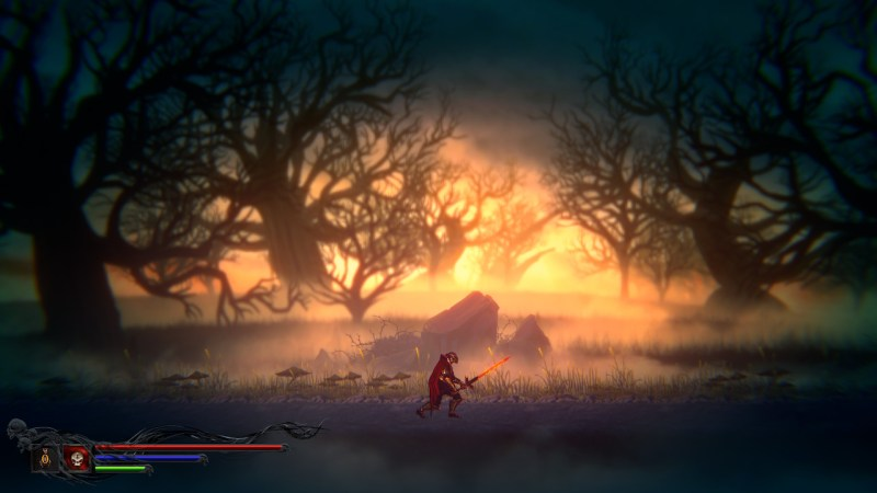 Down to Hell Gameplay Screenshot of soldier with sword