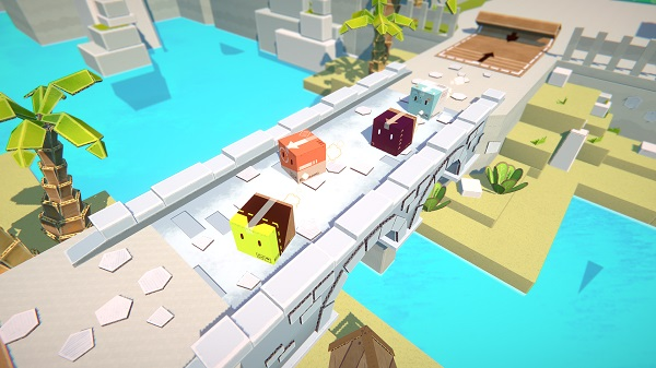 Pile Up! gameplay boxlings on a bridge