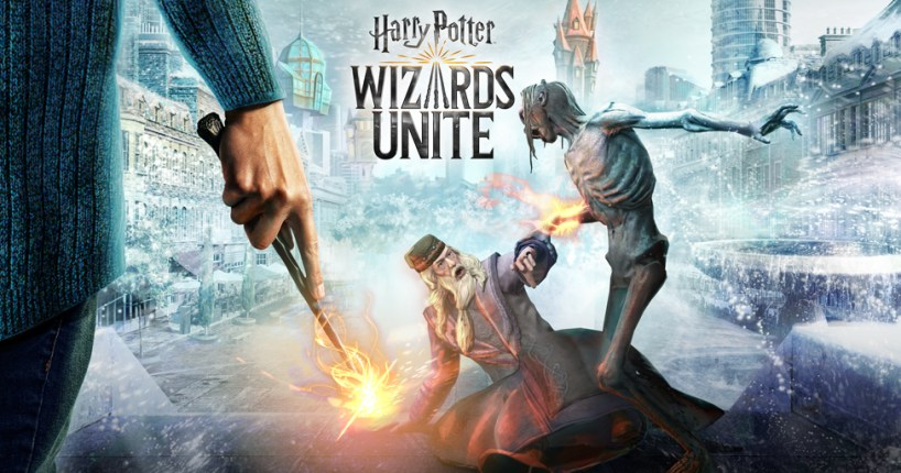 Harry Potter Wizard's Unite Dumbledore being attacked