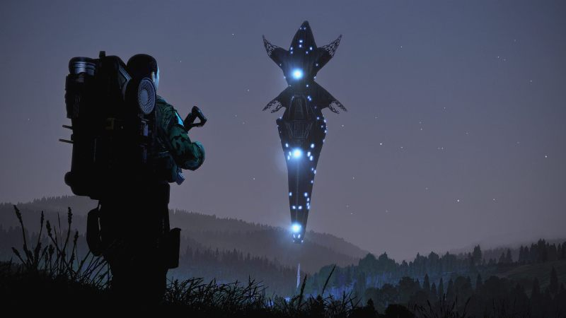 Arma 3 Screenshot floating glowing object infront of a soldier
