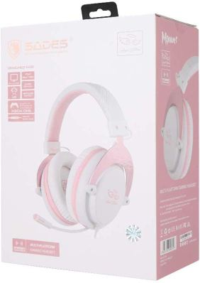 Feb 2020 giveaway prize, the Pink and White SADES MPower Angel Edition in box