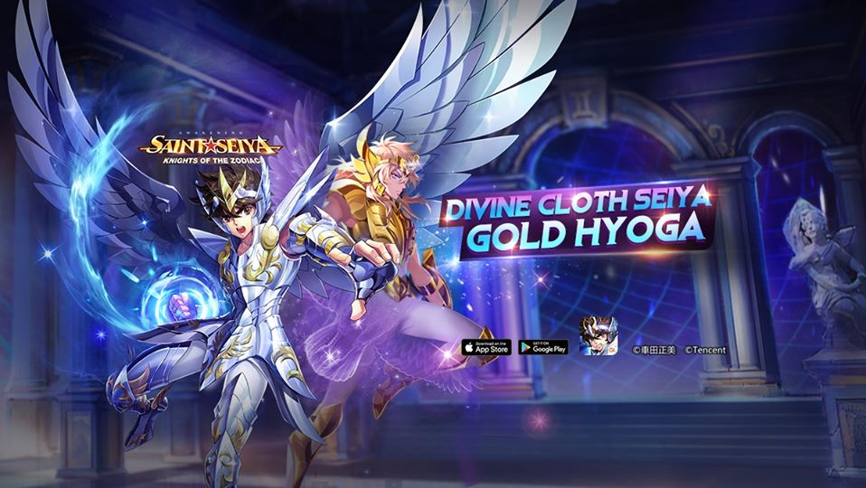 Saints, Divine Cloth Seiya and Golden Hyoga