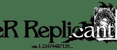 NieR Replicant logo in black
