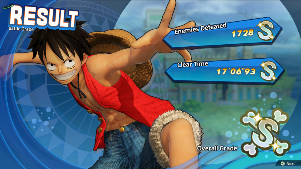 One Piece Pirate Warriors 4 Chapter End screen